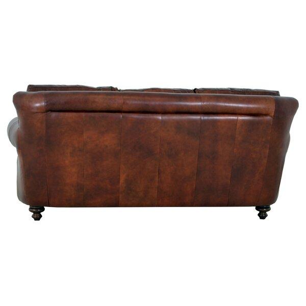 Westland And Birch Clinton Genuine Top Grain Leather Sofa U0026 Reviews |  Wayfair