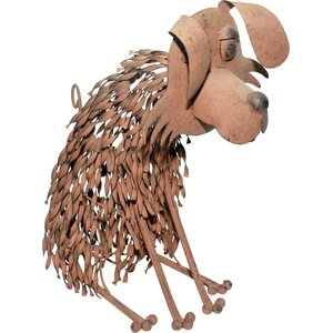 Metal Dog Garden Statue