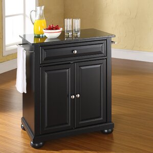 pottstown solid black granite top portable kitchen island. beautiful ideas. Home Design Ideas