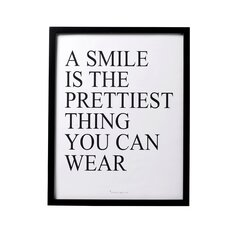 """""""A Smile Is…"""" Framed Textual Art"""