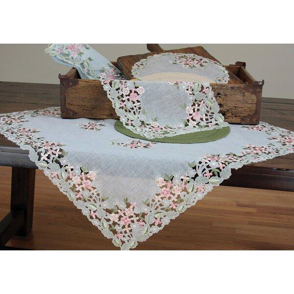 Xia Home Fashions Fairy Garden Sheer Embroidered Cutwork Spring Tablecloth  U0026 Reviews   Wayfair