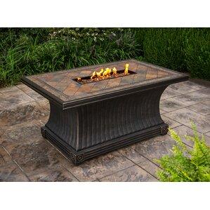 Beautiful Slate Aluminum Propane Gas Fire Pit Table