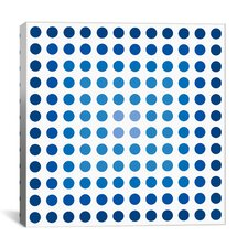 "Modern ""Faded Navy Dots"" Graphic Art on Canvas"