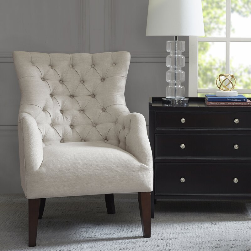 Steelton Button Tufted Wingback Chair - Wingback Accent Chairs You'll Love Wayfair