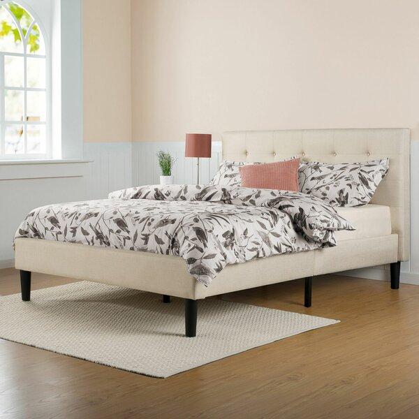 varick gallery festa upholstered platform bed reviews wayfair - Upholstered Platform Bed Frame