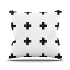 Swiss Cross by Skye Zambrana Throw Pillow