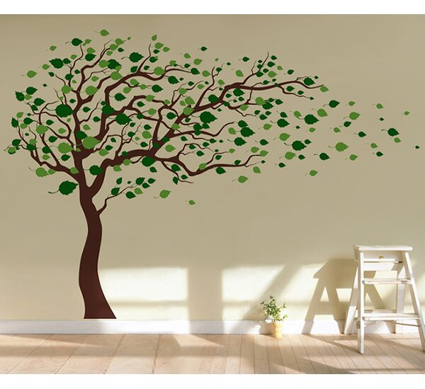 Pop Decors Tree Blowing in The Wind Wall Decal & Reviews ...