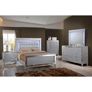 Silver Bedroom Sets You\'ll Love   Wayfair