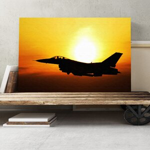 Fighter Jet Military Plane Photographic Print on Canvas