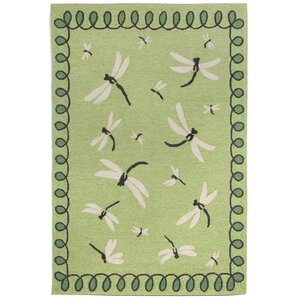 Napa Dragonfly Green Indoor/Outdoor Area Rug