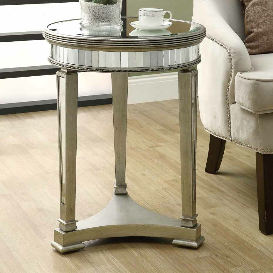 Monarch Specialties Inc Mirrored End Table Reviews Wayfair