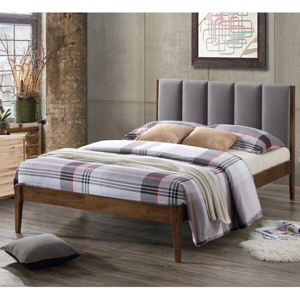 wholesale interiors baxton studio rachele midcentury fabric and wood platform bed u0026 reviews wayfair