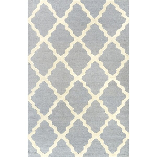 Varick Gallery Simonds Moroccan Trellis Spa Kilim Blue Area Rug U0026 Reviews |  Wayfair