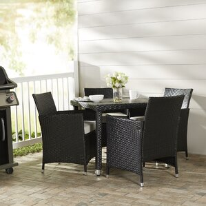 Nice Mercer 5 Piece Outdoor Dining Set With Cushion