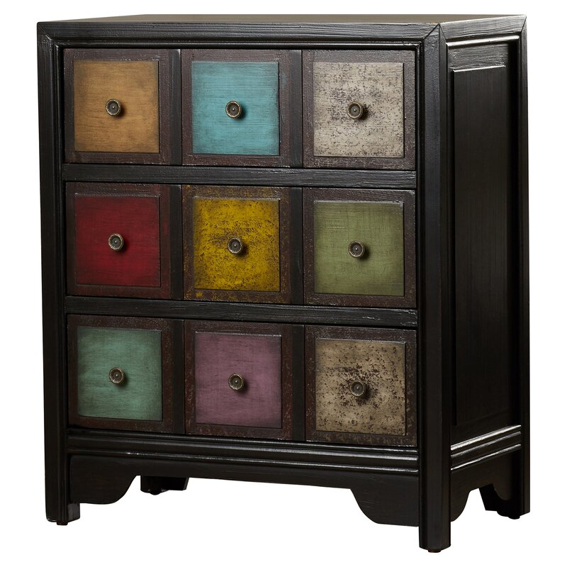 Bungalow Rose Navya Wood Storage Bedroom Bench Reviews: Bungalow Rose Jerry 3 Drawer Accent Chest & Reviews