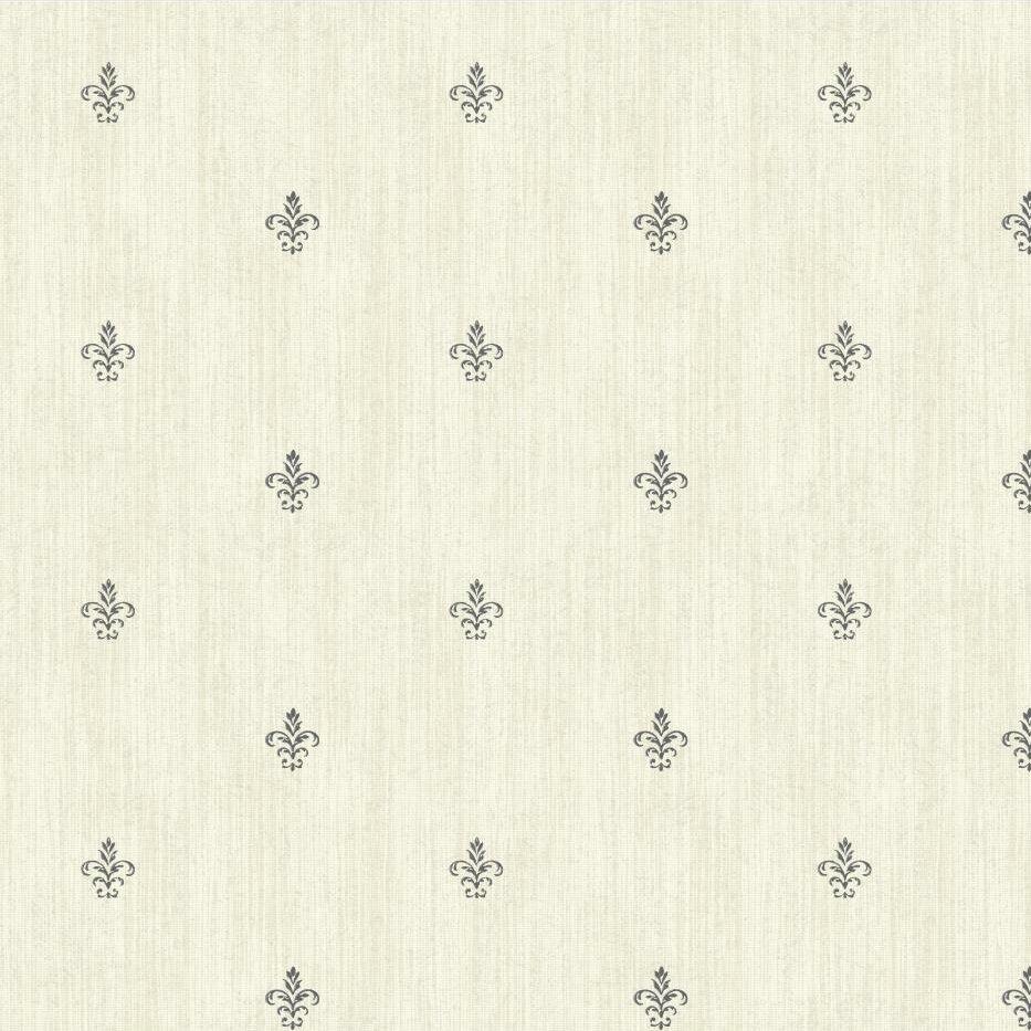York Wallcoverings Black And White Cabana Fleur De Lis 27