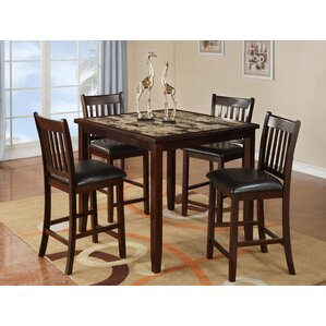 Burley Oak 5 Piece Counter Height Dining Set
