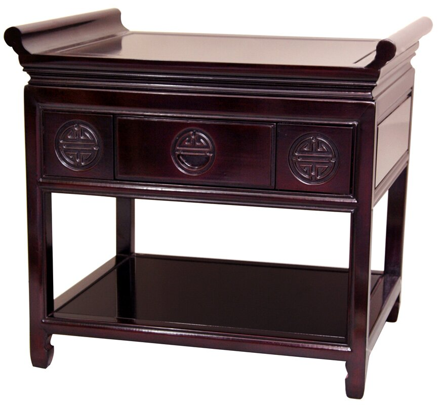 Oriental furniture altar table console table wayfair for Asian furniture emeryville ca