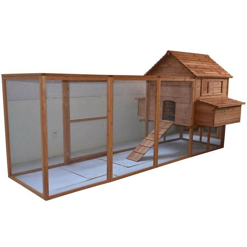 Large Backyard Hen House En Coop With Long Run