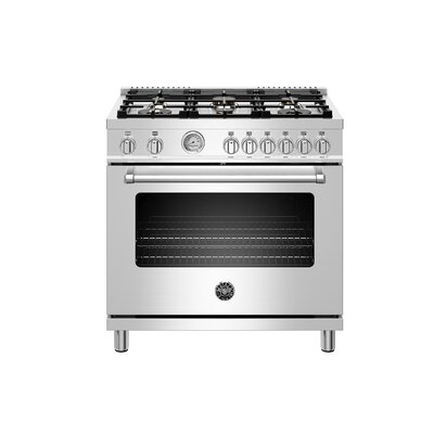 Master Series 36 Free-standing Gas Range with Griddle Bertazzoni Gas Type: Natural Gas