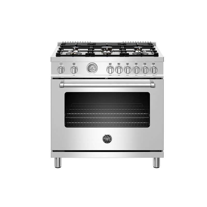 """Bertazzoni Master Series 36"""" Free-standing Gas Range with Griddle  Gas Type: Natural Gas"""