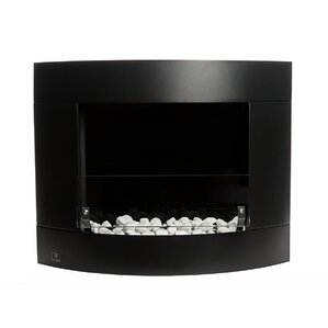 Diamond II Ventless Wall Mounted Ethanol Fireplace with Safety Glass by Bi..