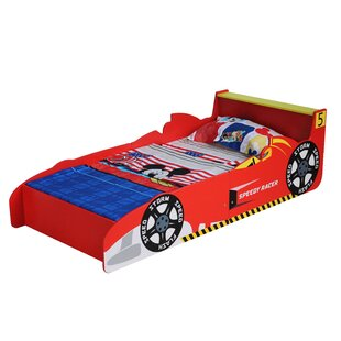 Jaqueline Racing Toddler Car Bed with Water Repellent Mattress by Zoomie Kids