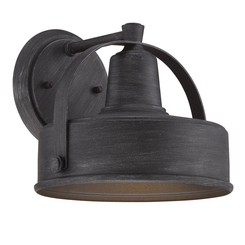 outside barn lights wall lights marcil 1light outdoor barn light wall lighting lights youll love wayfair