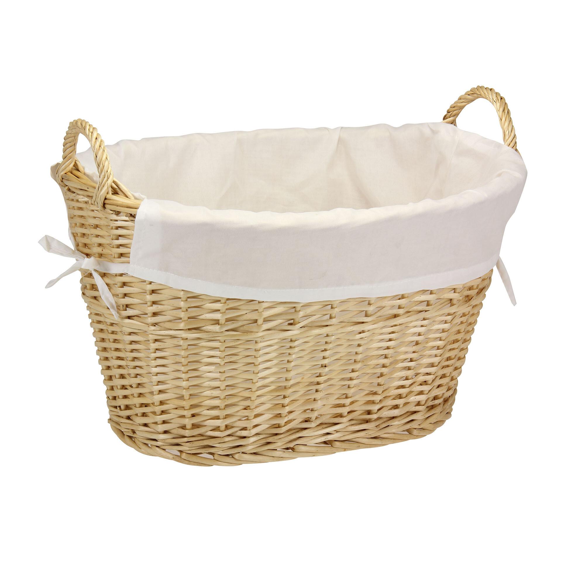Beachcrest Home Wicker Laundry Basket & Reviews | Wayfair