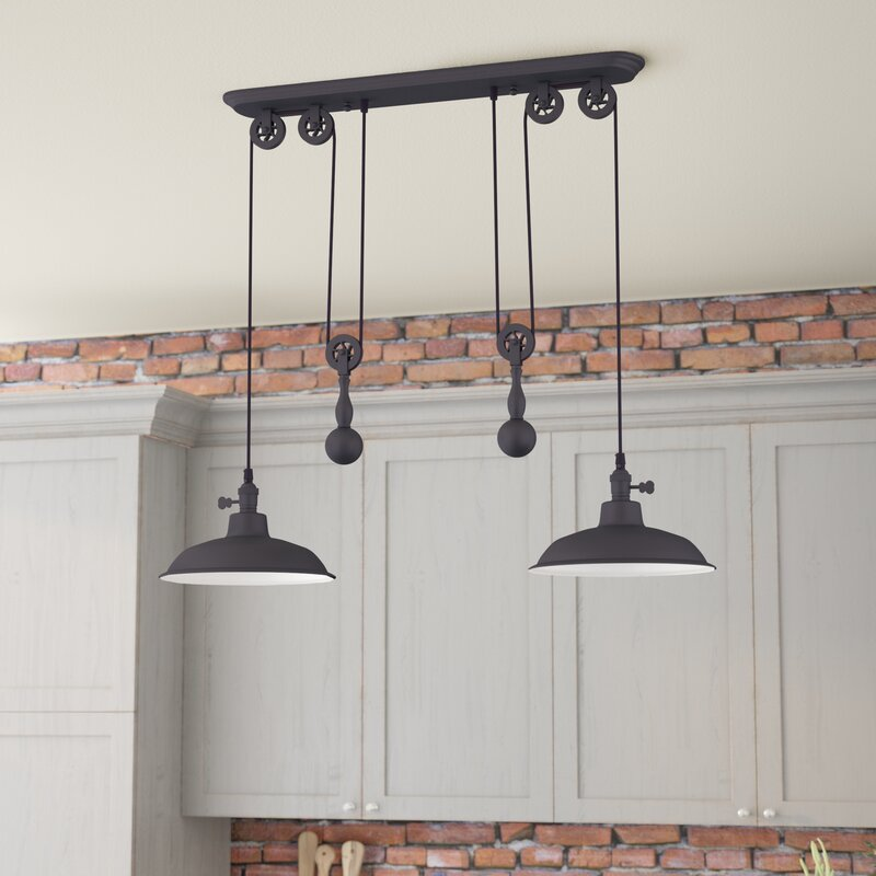 Ariel 2-Light Kitchen Island Pendant & Reviews