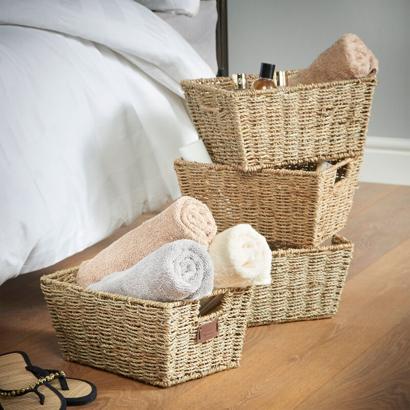 VonHaus Seagrass Storage Basket & Reviews | Wayfair