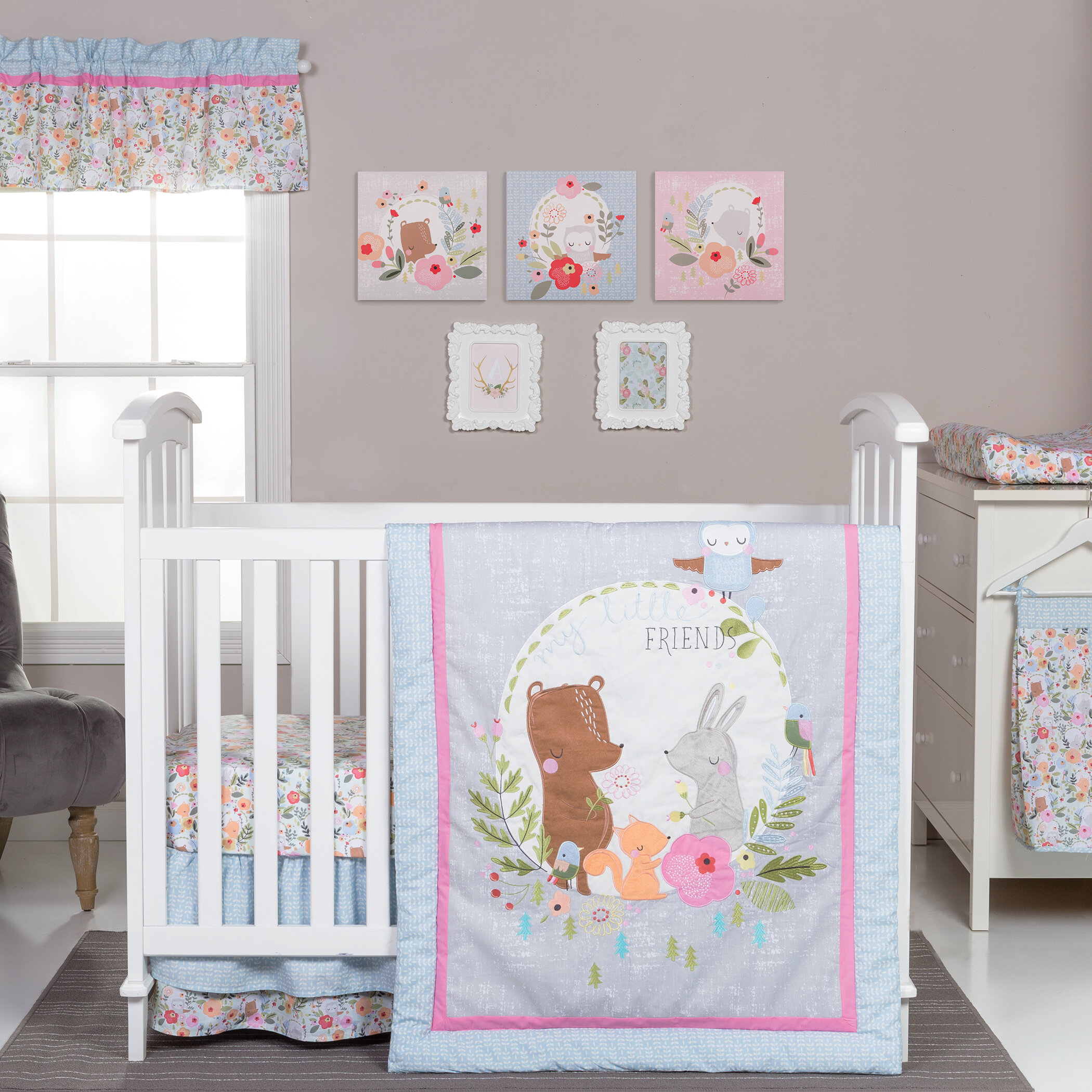 420e02a31d4e Harriet Bee Troxell 6 Piece Crib Bedding Set   Reviews