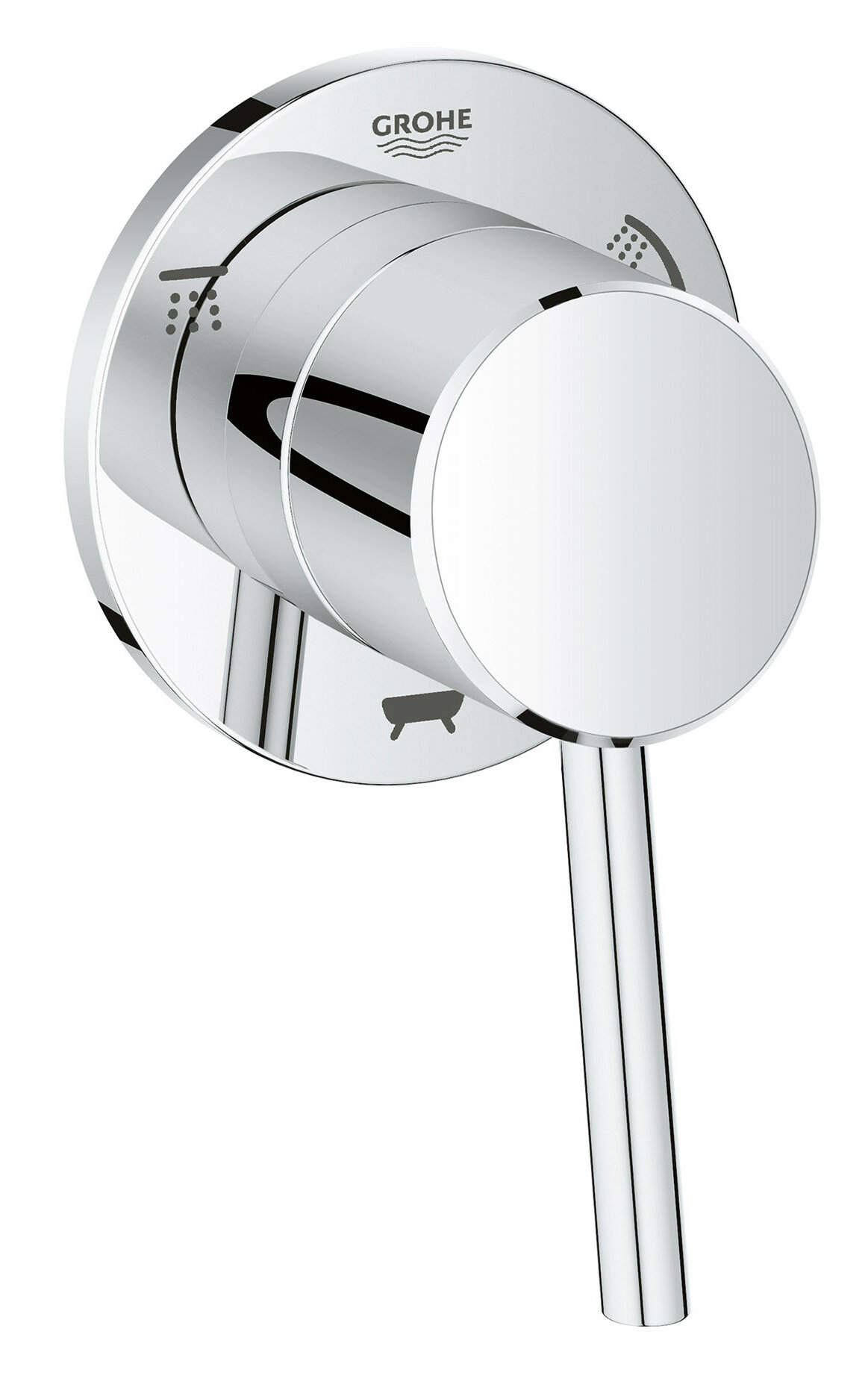 Grohe Concetto Single Handle 3 Way Diverter Shower Faucet Trim Only |  Wayfair
