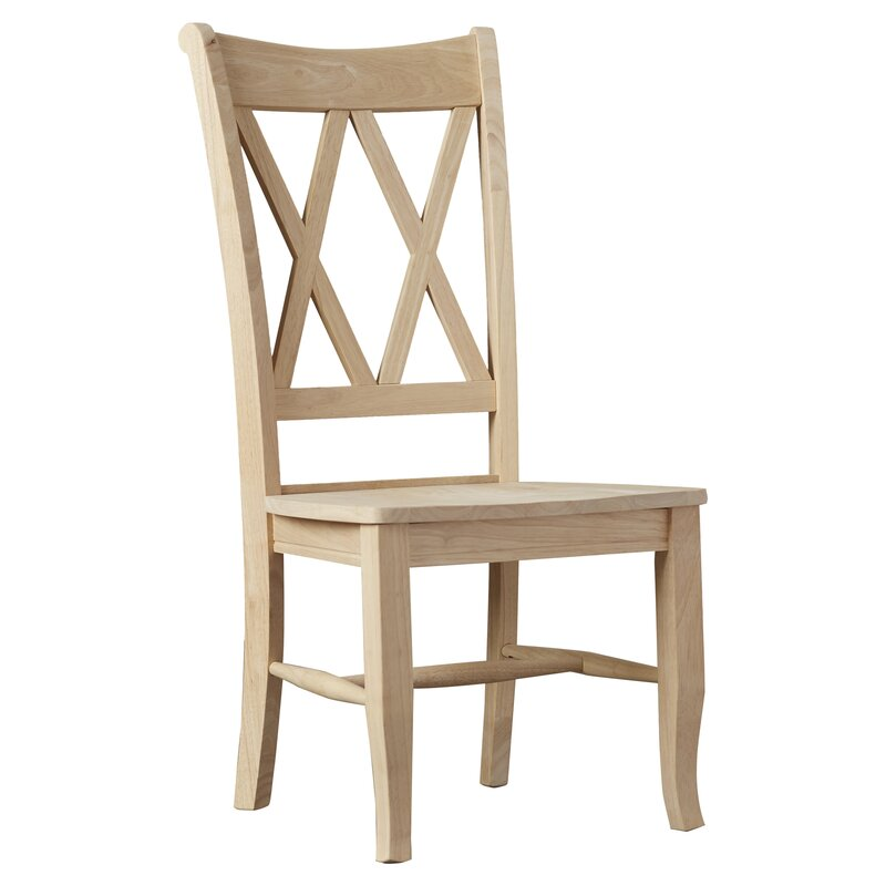 august grove toby cross back solid wood dining chair reviews. Black Bedroom Furniture Sets. Home Design Ideas