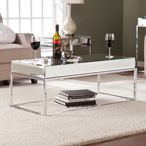 Kyla Mirrored Coffee Table Part 19