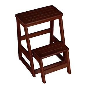 2step wood folding compact step stool with 200 lbs load capacity