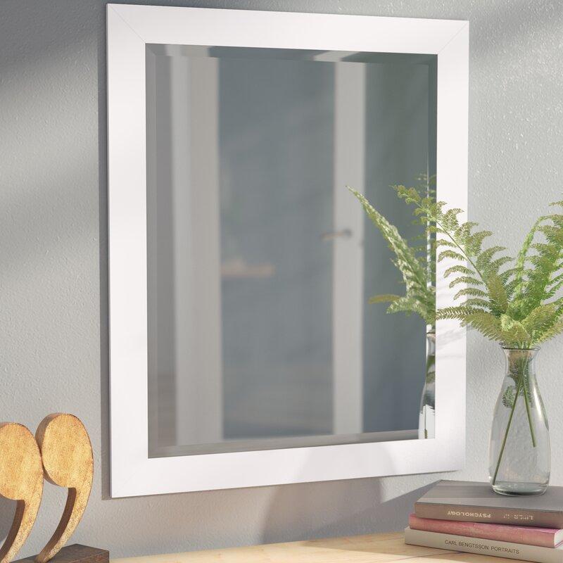 White Beveled Vanity Wall Mirror