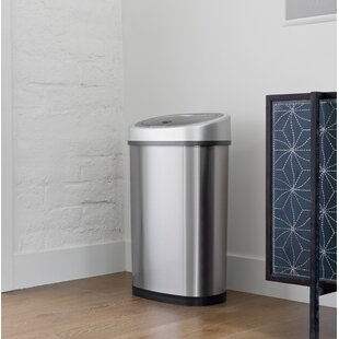 Trash Cans You'll | Wayfair.ca on toilet paper storage ideas, cookie sheet storage ideas, kitchen microwave ideas, corner kitchen drawers ideas, trash bin storage ideas, cutting board storage ideas, coffee maker storage ideas, garbage can kitchen ideas, kitchen solid surface countertops ideas, garbage can storage ideas, kitchen ceiling fan ideas, kitchen island that houses trash cans, tall basket trash can ideas, kitchen ideas hide trash can, outside trash storage ideas,