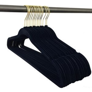 Ultra Thin, Non-Slip Hangers with Gold Hooks (Set of 120)