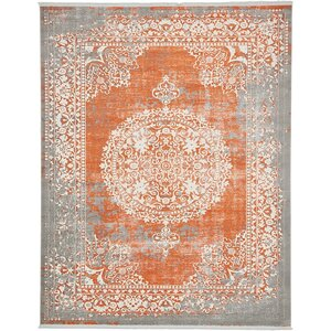 Colebrook Orange Area Rug
