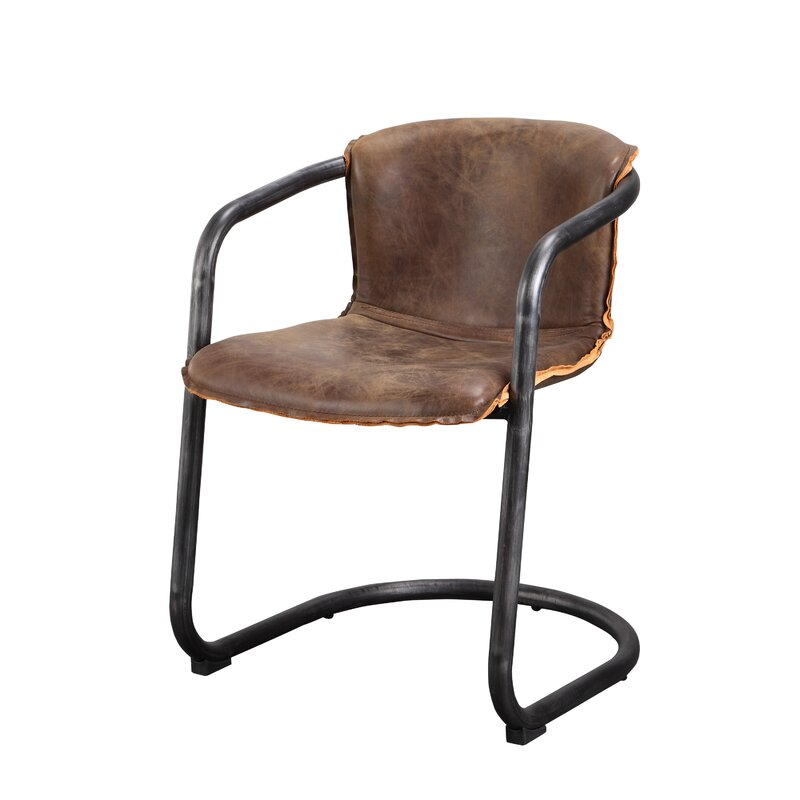 Moe's Home Collection Benedict Genuine Leather Upholstered ...