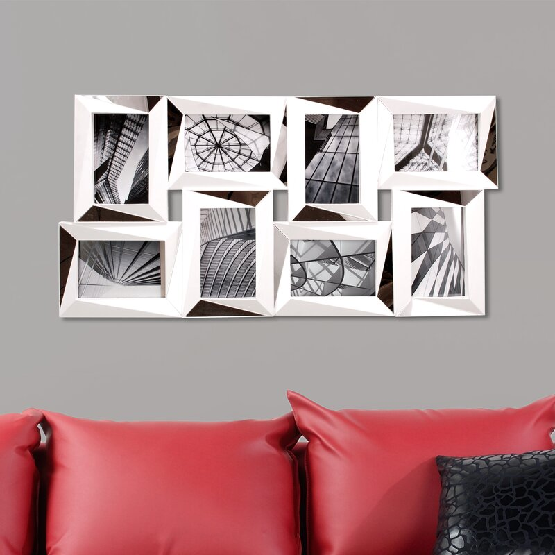 Wall Picture Frame Set nexxt design mira 8 piece mirrored wall collage photo frame set