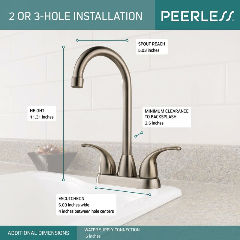 Peerless Faucets Pull Down Double Handle Kitchen Faucet Reviews