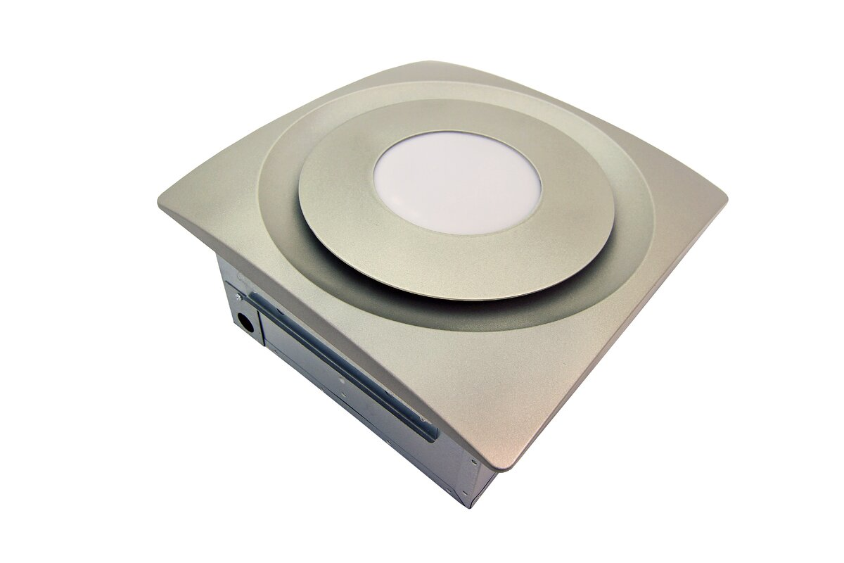 Quietest Bathroom Faucet aero pure slimfit 120 cfm bathroom fan with light & reviews   wayfair