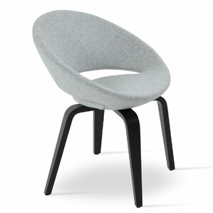 Crescent Plywood Leatherette Upholstered Dining Chair by sohoConcept