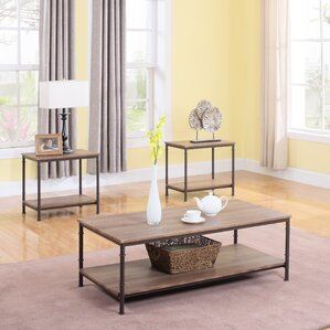 Perfect 3 Piece Coffee Table And End Table Set