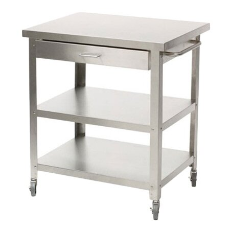 Danver Stainless Steel Kitchen Cart with Drawer & Reviews | Wayfair
