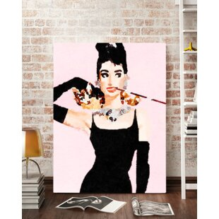 U0027Modern Audrey Hepburn Watercoloru0027 Wall Art On Wrapped Canvas