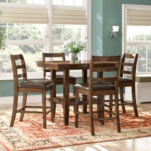 Gosselin Contemporary 5 Piece Counter Height Dining Set