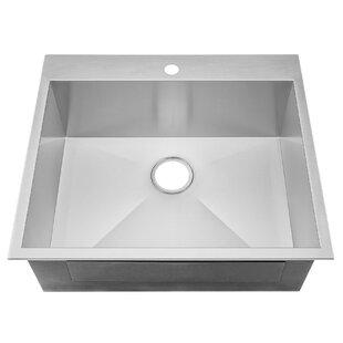 Modern & Contemporary 25 Inch Kitchen Sink   AllModern